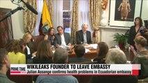Julian Assange to soon leave embassy in London