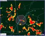 Images radar d'avions évitants les zones orageuses pour atterrir