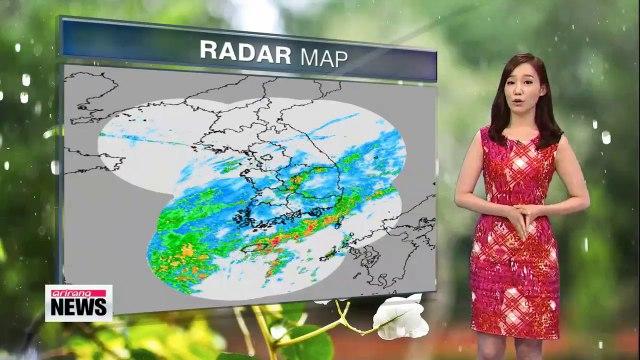 Nationwide rain forecast for Thursday