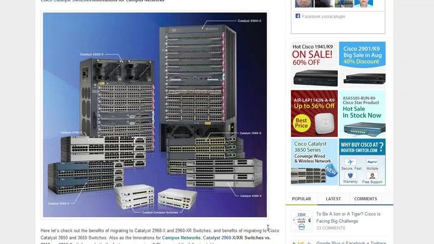 Cisco Catalyst 2960X/XR vs Cisco 3650 vs 3850
