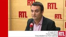 """Primaire UMP : Alain Juppé est """"mieux placé"""" que Nicolas Sarkozy, selon Florian Philippot"""
