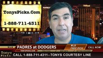 MLB Odds LA Dodgers vs. San Diego Padres Pick Prediction Preview 8-21-2014