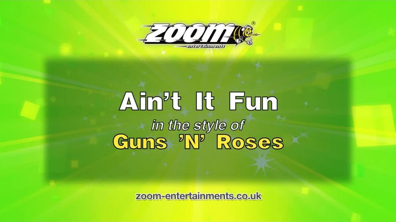 Zoom Karaoke – Ain't It Fun – Guns 'N' Roses