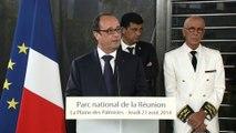 Discours du président de la République lors de la visite du Parc national de la Réunion, à La Plaine de Palmistes, sur l'Ile de la Réunion