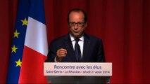 Discours du président François Hollande lors de la rencontre avec les élus de La Réunion