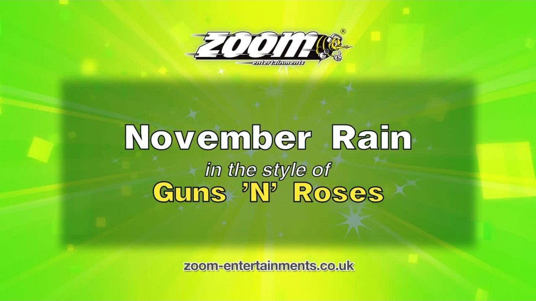 Zoom Karaoke – November Rain – Guns 'N' Roses