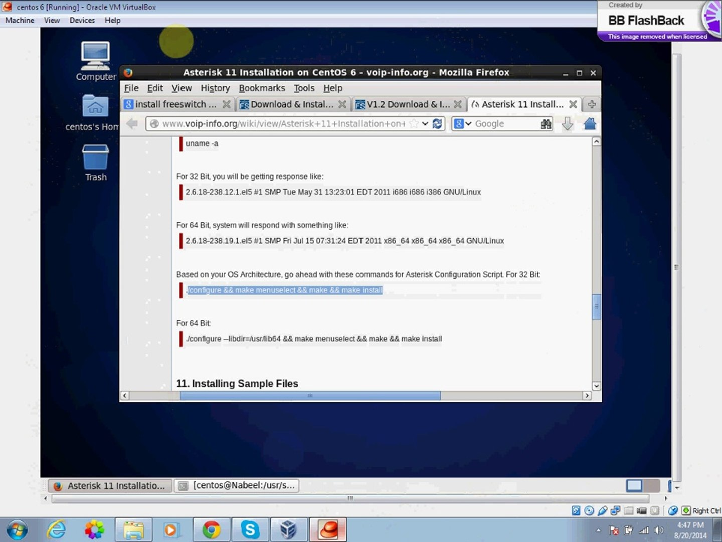 How to install and configure Asterisk on Centos 6 5 - video