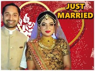 Fahadh Faasil & Nazriya Nazim Got 'Married'