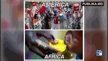 Provocarea găleţii cu gheaţă în lume. Un colaj video cu incidente haioase din momentele când oamenii îşi toarnă apa în cap