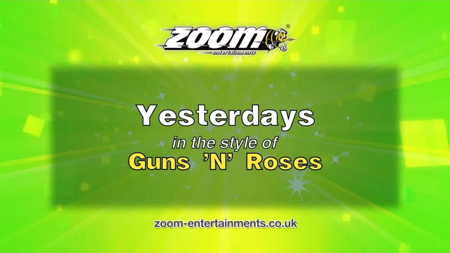 Zoom Karaoke – Yesterdays – Guns 'N' Roses