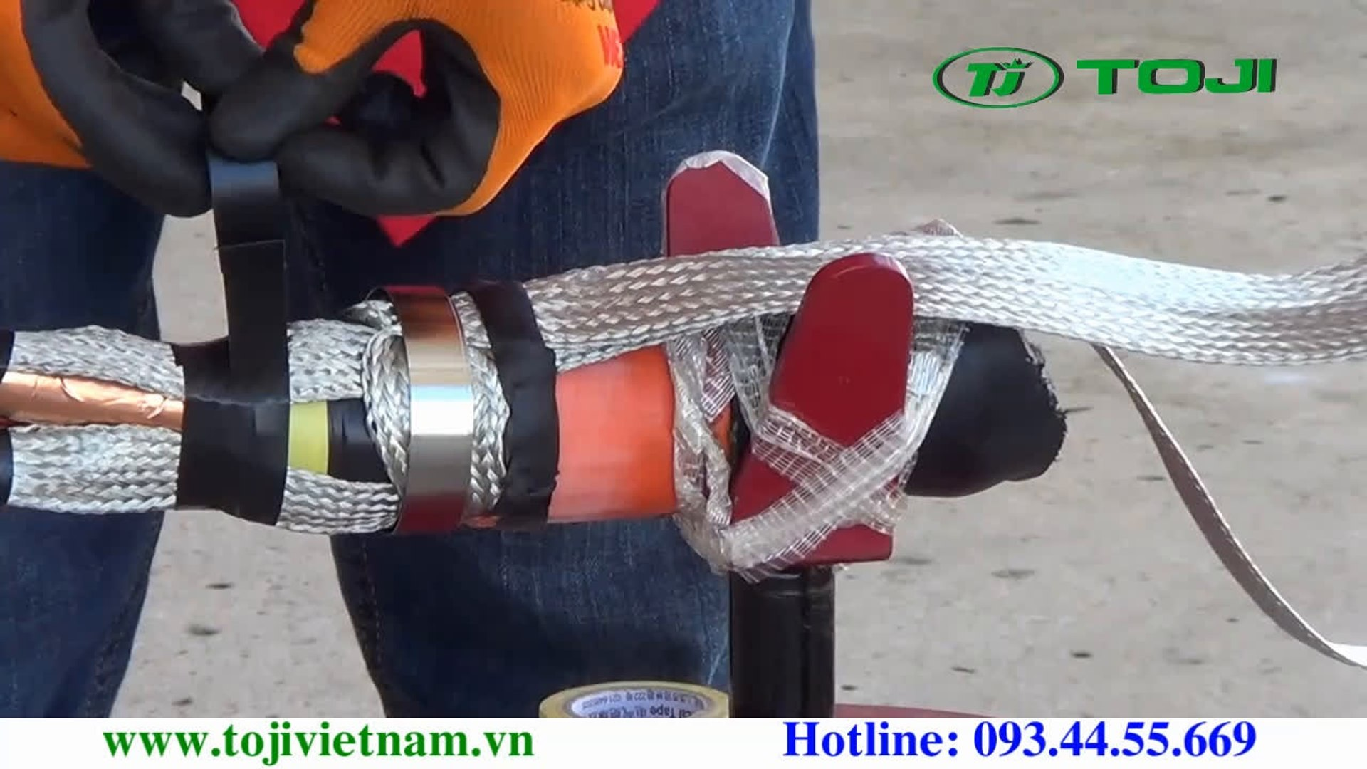 7.Video huong dan lam dau cap co rut nguoi 3M -Buoc 7-Phu kin co chia niem cap [TOJI.VN] Phan phoi d
