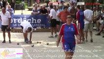 Demi-finales Mondial Mixte de la quadrette, Sport Boules, Vals-les-Bains 2014