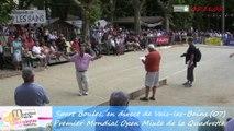 Présentation des finales du Mondial Mixte de la quadrette, Sport Boules, Vals-les-Bains 2014