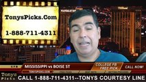 Boise St Broncos vs. Mississippi Rebels Pick Prediction NCAA College Football Odds Preview 8-28-2014