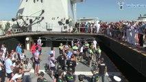 La Vuelta 2014 - Le départ de la 3e étape depuis le porte avion Juan Carlos I