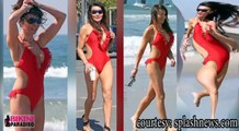 Lizzie Cundy Sports A Red Hot Bikini bikini paradiso FULL HD