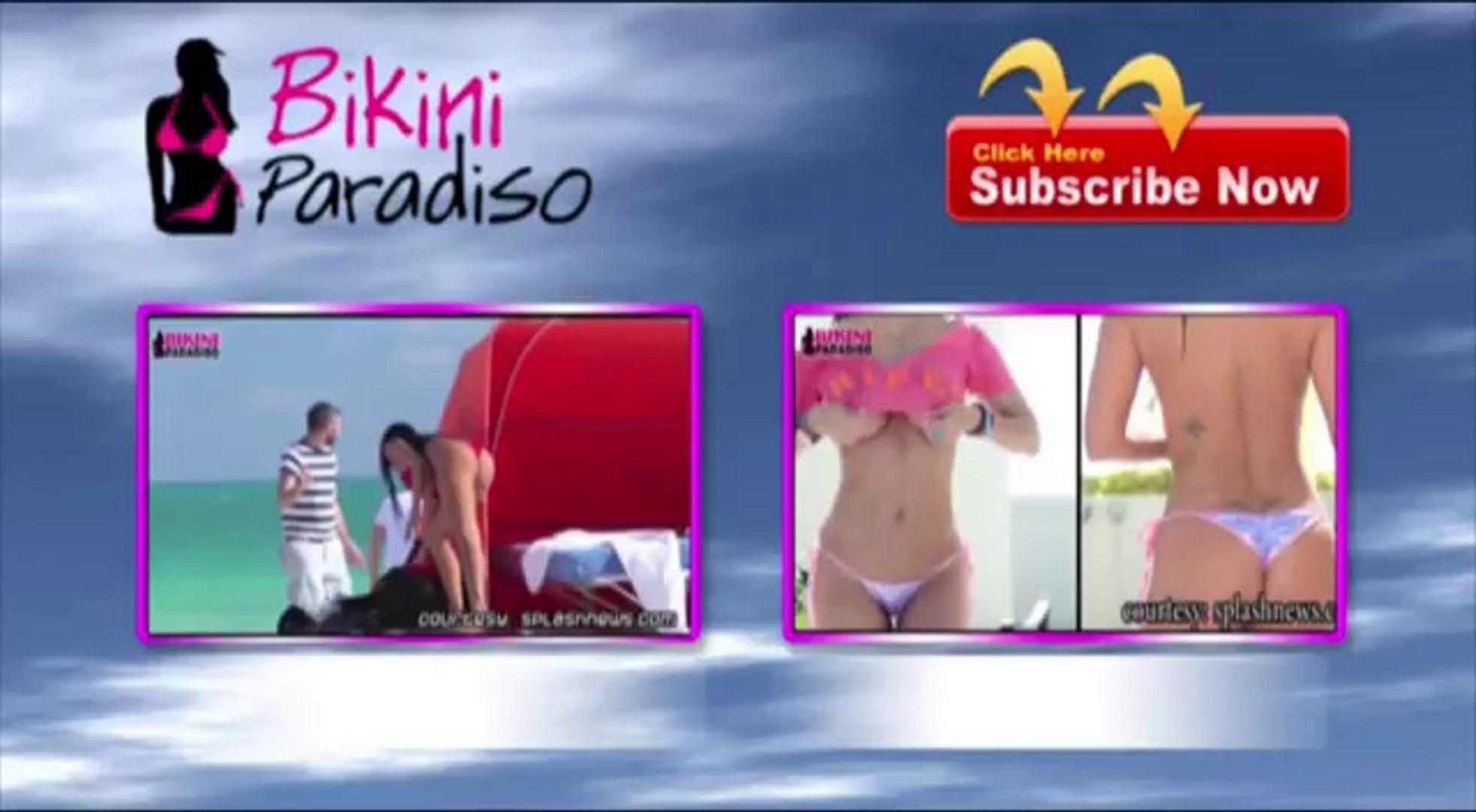 Aliona Vilani Ultra Slim Bikini Body on Miami Beach bikini paradiso FULL HD