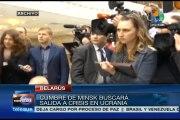 Belarús: cumbre de Minsk buscará salida a crisis en Ucrania