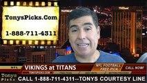 Tennessee Titans vs. Minnesota Vikings Pick Prediction NFL Preseason Pro Football Odds Preview 8-28-2014