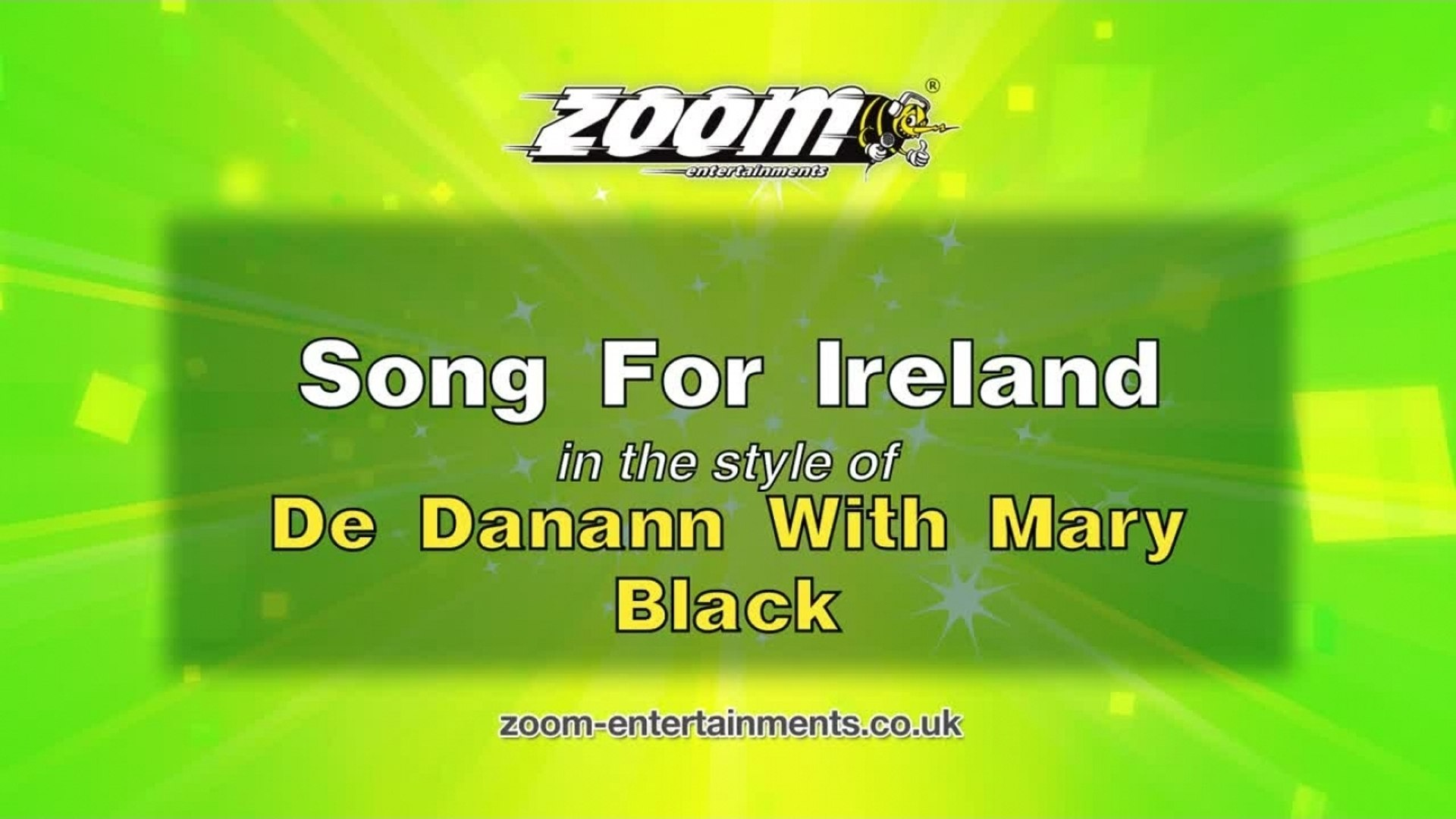 Zoom Karaoke - Song For Ireland - De Danann With Mary Black