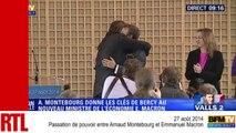 Passation de pouvoir entre Arnaud Montebourg et Emmanuel Macron