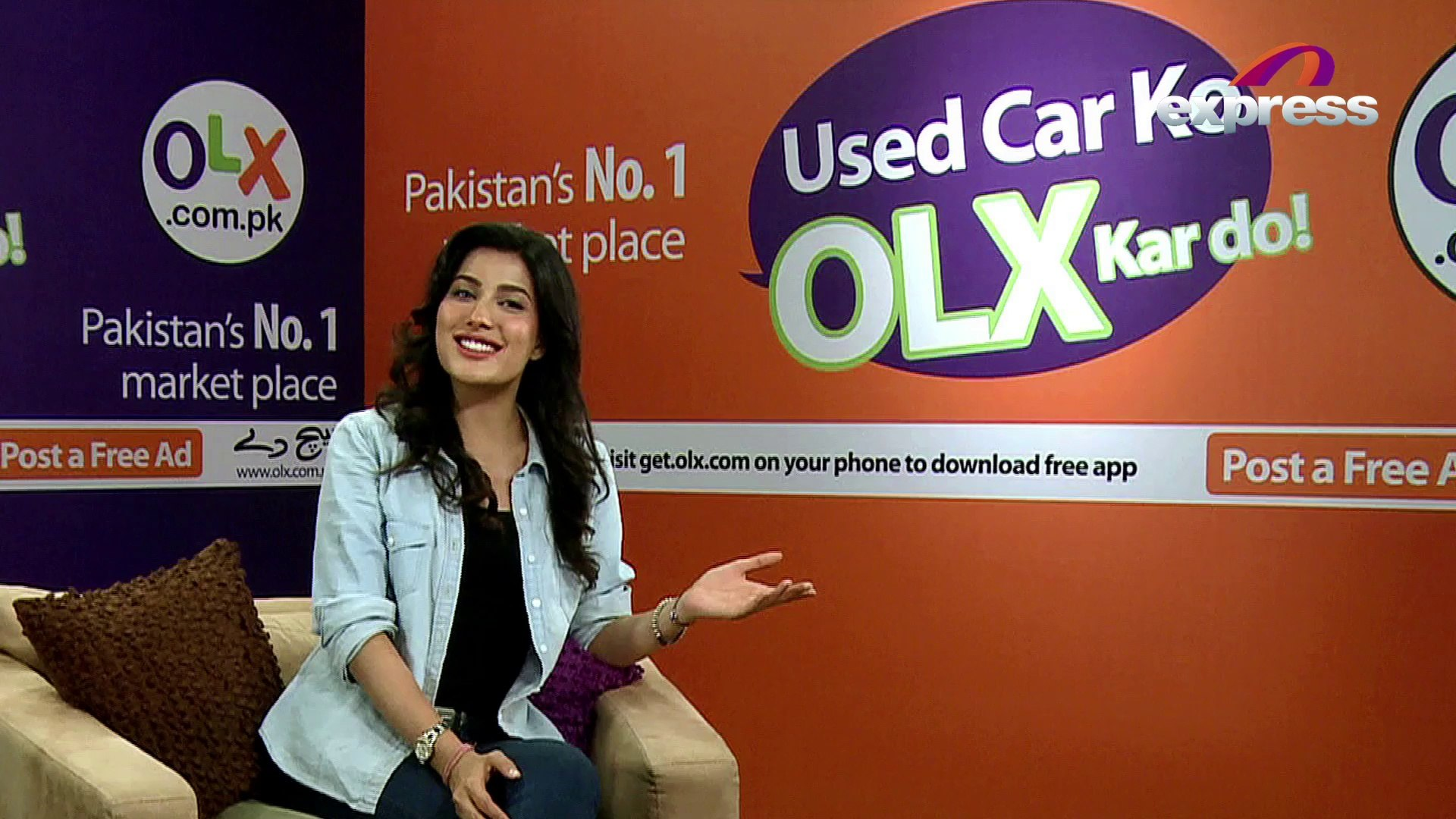 Sell your used car on OLX - Mehwish Hayat promoting OLX