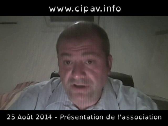 Présentation de l'association et du site internet CIPAV.INFO