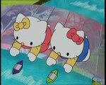 Hello kitty au pays du papier dessins animés