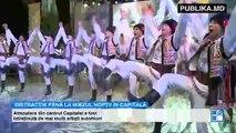 Spectacol de artificii în Piaţa Marii Adunări Naţionale la sfârşitul concertului dedicat Zilei Independenţei