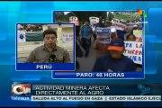 Paro en Arequipa contra proyecto minero que afectaría el agro