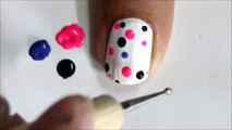 Very Easy Nail Art For Beginners ! - Cute Polka Dots beginners nail designs to do at home