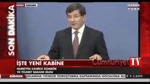 Davutoğlu yeni kabineyi açıkladı