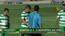 Ryan Gauld scores his first goal in Sporting Lisbon colours