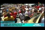 Hundreds arrested at White house immigration reform protest