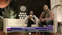 Evgenia Medvedeva Kiss and Cry at JGP Courchevel 2014 FS