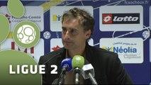Conférence de presse FC Sochaux-Montbéliard - Dijon FCO (0-1) : Olivier ECHOUAFNI (FCSM) - Olivier DALL'OGLIO (DFCO) - 2014/2015