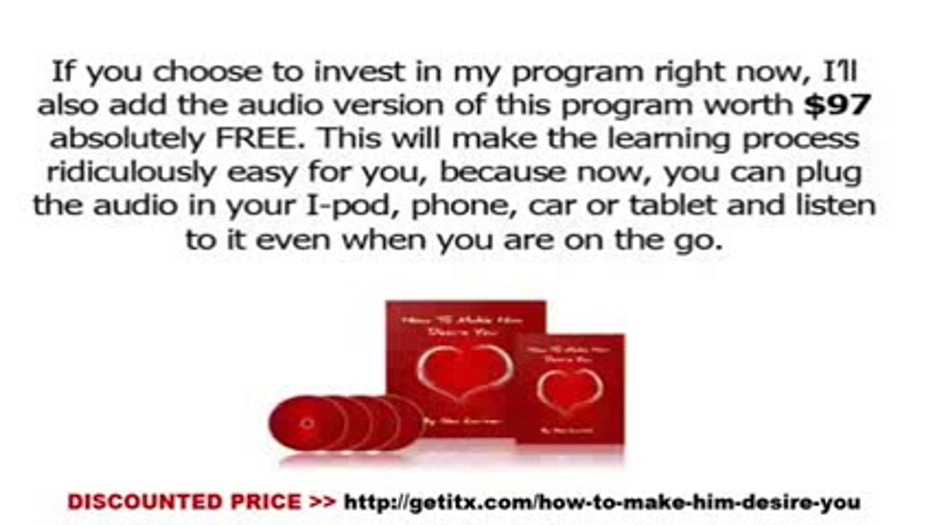 [DISCOUNTED PRICE] How To Make Him Desire You Review - How To Make Him Desire You System Download