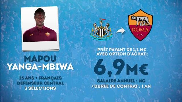 Officiel : Mapou Yanga-Mbiwa rejoint la Roma en prêt !