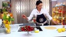 Recette de  Tarte à la crème au citron et aux fraises (VF)