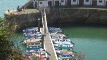 PAISAJE hoy 1 de septiembre en Candás, playa y puerto