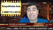 Vanderbilt Commodores vs. Mississippi Rebels Pick Prediction NCAA College Football Odds Preview 9-6-2014
