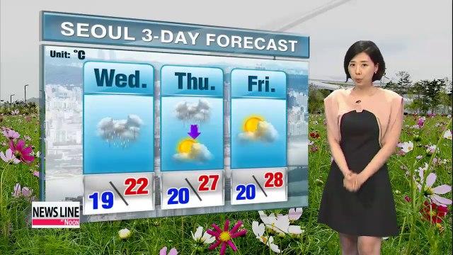 Cooler afternoon highs, downpours forecast nationwide until Thursday