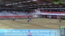 Huitièmes de finale D1, France Simple, Sport Boules, Dardilly 2014