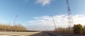Dunaújváros - Pentele híd - 51-es út (Pentele Bridge - Road 51)    Aprilia Sportcity Cube 250