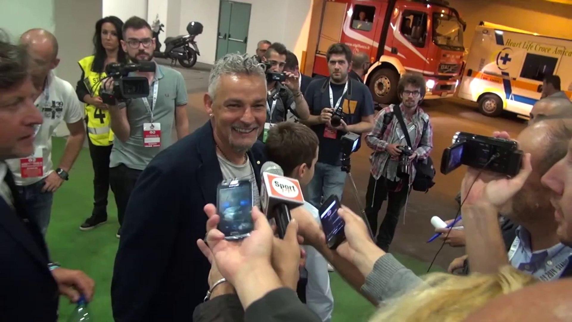 Partita per la pace, Baggio a segno su assist di Maradona (01.09.14)