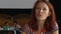 Claudia Zels conseille les jeunes photographes à Visa pour l'image