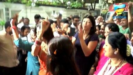 Shilpa Shetty for Ganpati Visarjan