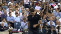 Gael Monfils vs Roger Federer 2-3  Gael Monfils vs Roger Federer Quarter Final  US Open 2014