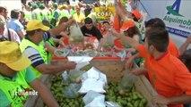 Des agriculteurs espagnols distribuent des tonnes de fruits pour protester contre l'embargo russe
