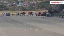 Rusya'da Hava Gösterisinde Helikopter Yere Çakıldı